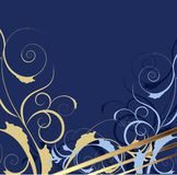 Blue decorative background Royalty Free Stock Photography