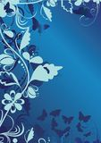 Blue decorative background Stock Photography