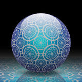 Blue decorative ball Royalty Free Stock Images