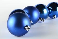 Blue decorative balls Stock Images