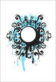 Blue decorative elements Royalty Free Stock Images