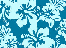 Blue decorative floral pattern Royalty Free Stock Photos