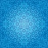 Blue Decorative Flowers,Vintage Wallpaper Background ornate mandala design vector illustration