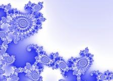 Blue Decorative Fractal Background Stock Photos