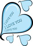Blue decorative heart Stock Photos