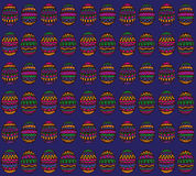 Blue Decorative Pattern. Ethnic easter eggs on blue background Stock Photos
