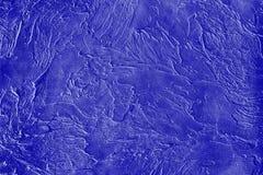 Blue decorative plaster, texture Royalty Free Stock Photo