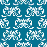 Blue decorative seamless pattern Stock Photography
