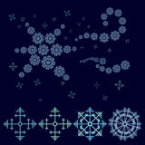 Blue decorative star composed of snowflakes royalty free stock photo