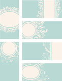Blue decorative vintage cards Royalty Free Stock Photos