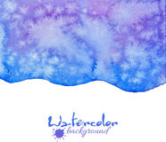 Blue decorative watercolor vector background Royalty Free Stock Photo