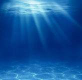 Blue deep sea underwater. Background Stock Photo