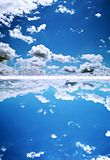 Blue deep sky stock images