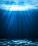Blue deep water abstract natural background. Stock Photos