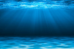 Blue deep water abstract natural background. Stock Photography