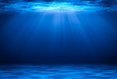 Blue deep water horizontal abstract natural background. Stock Photography