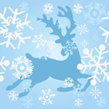 Blue deer Stock Images