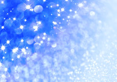 Blue defocused glitter background Royalty Free Stock Images