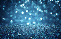 Blue defocused lights background. abstract bokeh lights . Stock Photo