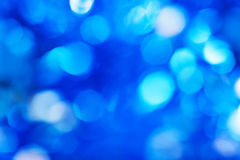 Blue defocused lights background Stock Image