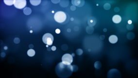 Blue defocused Particles_030 Stock Images