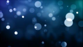 Blue defocused Particles_030 stock video