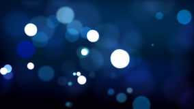 Blue defocused Particles HD_024 Royalty Free Stock Image
