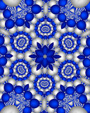 Blue delft wallpaper. Abstract fractal image resembling blue delft wallpaper Royalty Free Stock Images