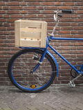 Blue delivery bike Stock Photos