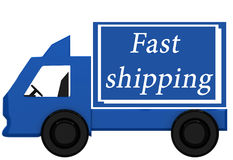 Blue delivery truck Royalty Free Stock Photo