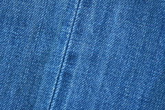 Blue demin fabric texture background. Stock Photo