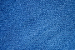 Blue demin fabric texture background Royalty Free Stock Images