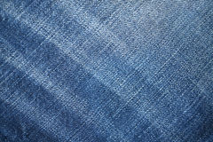Blue demin fabric texture background Royalty Free Stock Image