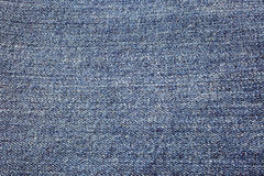 Blue denim background Stock Images