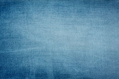 Blue denim background Stock Photography