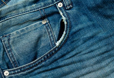Denim blue jeans pocket Stock Images