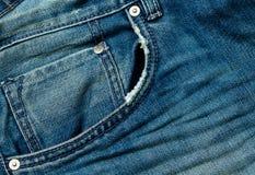Denim blue jeans pocket Stock Images