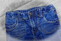 Blue Denim Bottoms Royalty Free Stock Photos