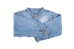 Blue Denim Child Shirt Royalty Free Stock Photo
