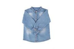 Blue Denim Child Shirt Stock Photo