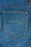 Blue denim with empty pocket Stock Photography