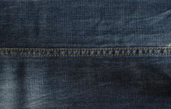 Blue denim fabric texture Stock Photography