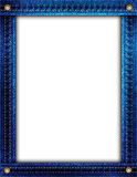 Blue denim frame Stock Image