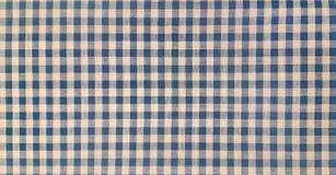 Blue denim gingham fabric Stock Photos
