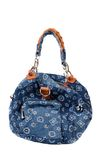 Blue denim handbag Royalty Free Stock Image