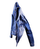 Blue denim jacket, isolate on a white background Stock Photo
