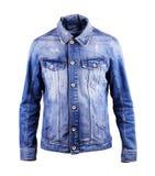 Blue denim jacket, isolate on a white background. Blue denim jacket, isolate on a white Stock Images
