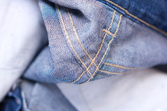 Blue Denim jean texture background Royalty Free Stock Image