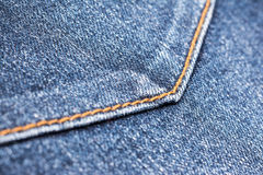Blue Denim Jeans Back Pocket Stock Photo