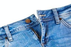 Blue denim jeans close up Stock Image